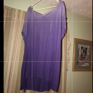 💜Purple ombré style color tunic shirt💟